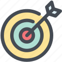 archer, arrow, bullseye, goal, precision, target icon