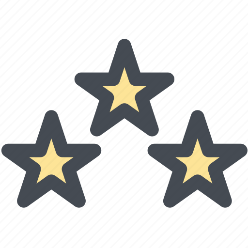ratings, rising star, shooting star, star, three stars icon
