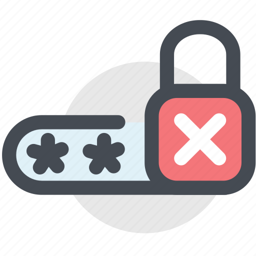 lock, password, protected, protection, security, wrong password icon