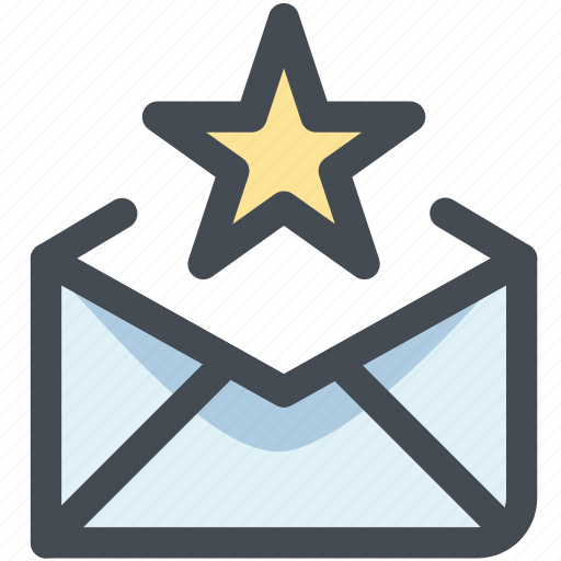 email, favorite, favorite email, letter, receive, star icon