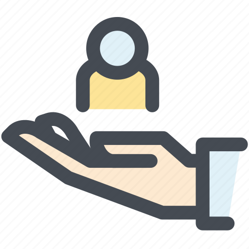endowment, hand, health, insurance, protection icon