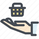 business, consumer, consumer protection, e commerce, hand, protection icon