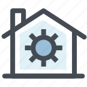 finance, home, house, property, setting home, settings icon
