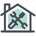 home, home repairs, house, repairs, service, tools icon