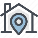 home, home location, house, location, navigation, pin icon