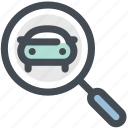 automobile, search car, track vehicle, transport, uber icon