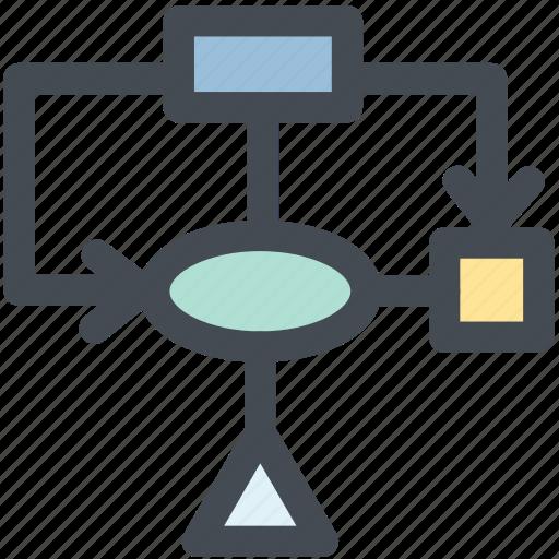 flow, management, plan, site map, structure icon
