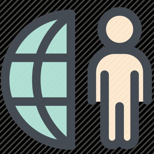 communication, customer, employee, engineer, global icon