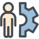 cog, consultant, customer, employee, user setting support icon