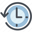 clock, counterclockwise, history, move, time, timing icon