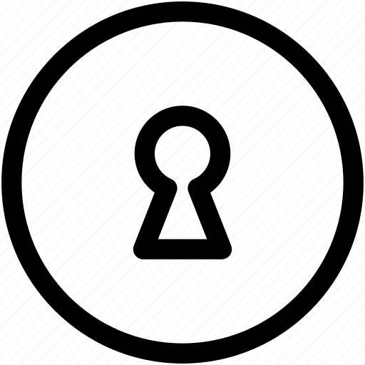 keyhole, password, protected, protection, security, unlock icon