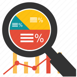 business, chart, financial, graph, marketing, optimization, search icon