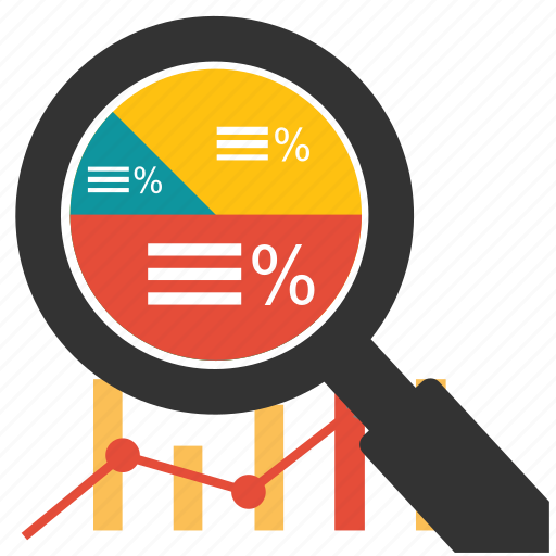 business, chart, financial, graph, marketing, optimization, search icon