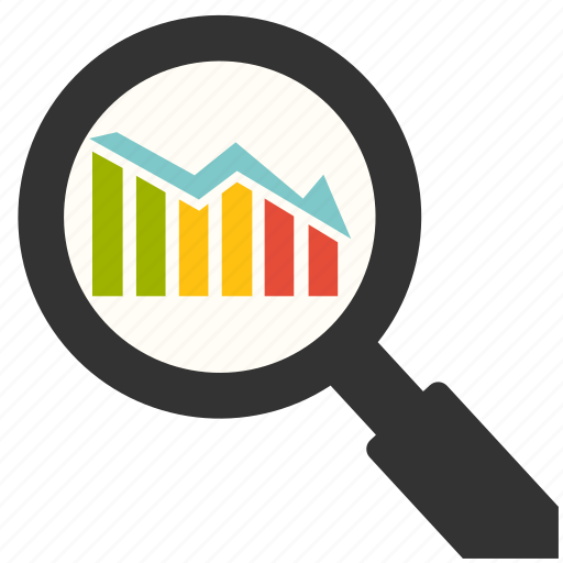business, chart, financial, management, optimization, search, share icon