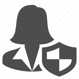 businesswoman, female, people, security, shield, user, woman icon