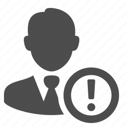 businessman, exclamation mark, male, man, people, user, warning icon