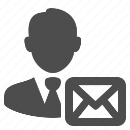 businessman, email, envelope, mail, man, message, people icon