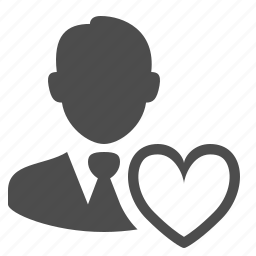 businessman, favorite, heart, love, male, man, user icon