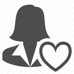 businesswoman, favorite, heart, love, woman icon