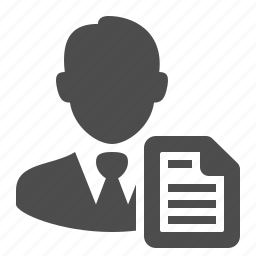 businessman, document, file, man, people, user icon