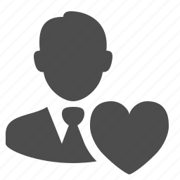 businessman, favorite, heart, love, man, users icon