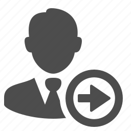 arrow, businessman, button, buttons, right, user icon