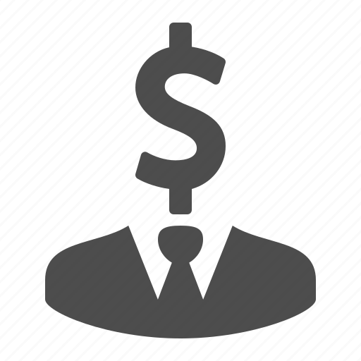 business, businessman, dollar, finance, financial, man, money icon