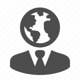 business, businessman, earth, globe, international, man, worldwide icon