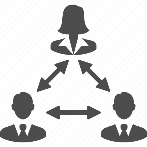 brainstorming, business, businessman, businessmen, businesswoman, female, group, hierarchy, leader, male, man, men, people, team, users, woman icon