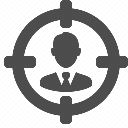 aim, avatar, business, businessman, human, hunt, kill, male, man, mark, person, target, user icon