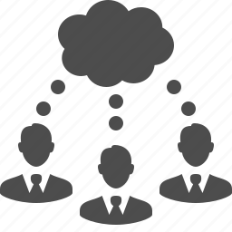 brainstorming, business, businessman, businessmen, group, idea, male, man, men, people, team, thinking, thought bubble, users icon