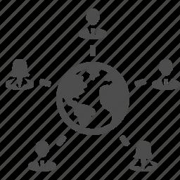 business, businessman, businessmen, businesswomen, earth, female, global, globe, group, international, male, man, men, people, planet, users, woman, women, worldwide icon