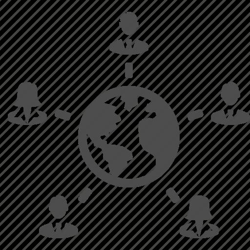 Planet, men, worldwide, users, people, globe, global, international, women, businessmen, female, earth, male, businesswomen, woman, group, business, businessman, man icon