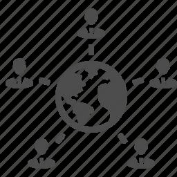 business, businessman, businessmen, earth, global, globe, group, international, male, man, men, people, planet, users, worldwide icon