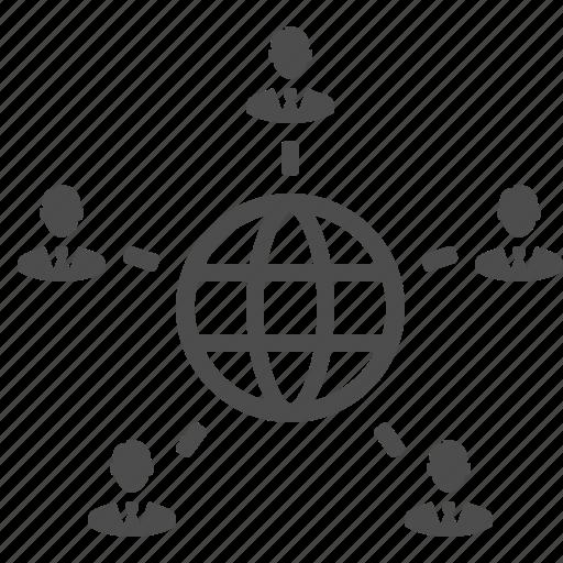 business, businessman, businessmen, connection, global, globe, international, internet, male, man, men, network, people, users, worldwide icon