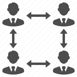 businessmen, group, hierarchy, male, men, people, team, users icon