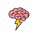 brain, brainstorm, brainstorming, knowledge, metaphor, thinking icon