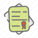 badge, business, document, file, paperwork, signature, startup icon