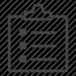 article, board, content, describing, library, line, notes icon