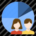 business, customer, demand, segment, segmentation, target icon