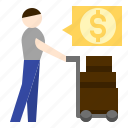 bussiness, commission, distributor, procurement, supplier icon