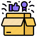 value, new product, product value, quality product, value proposition icon