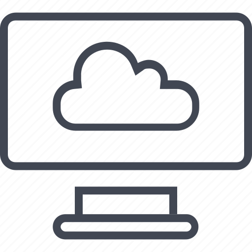 cloud, monitor, screen, storage icon