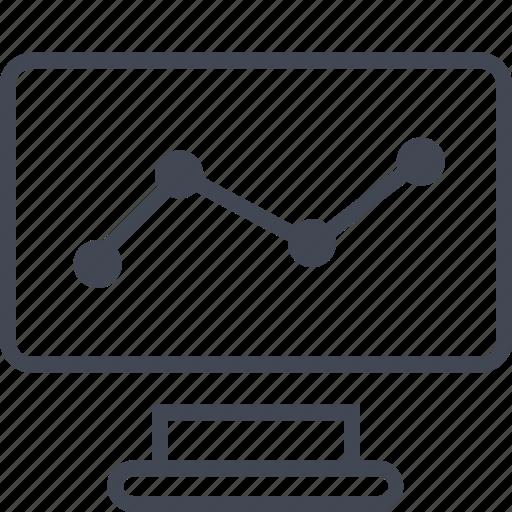 computer, monitor, results, screen icon