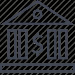 building, court, law, money icon