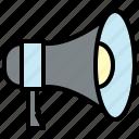 announcement, megaphone, marketing, advertising, promotion
