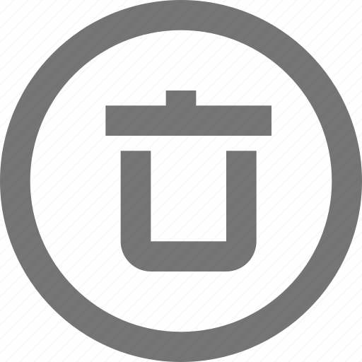 cancel, circle, delete, material, recycle bin, remove, trash icon