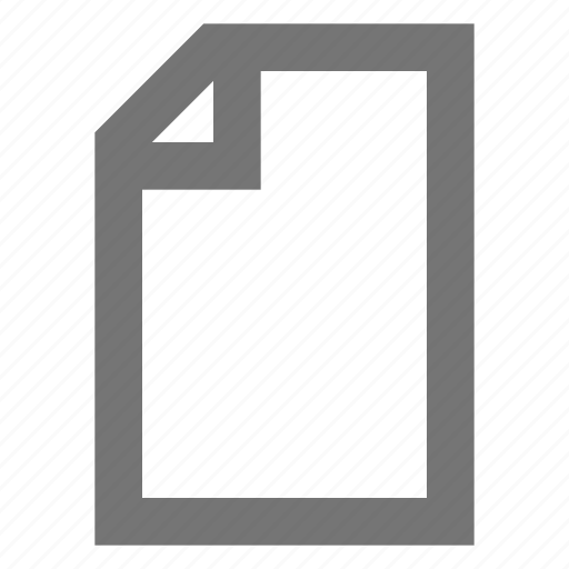 blank, content, document, file, material, new, page icon