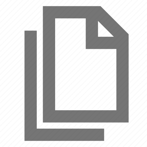 document, file, material, multiple, note, outline, page icon