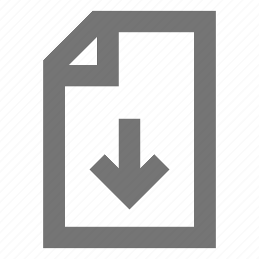 document, download, file, import, material, note, page icon
